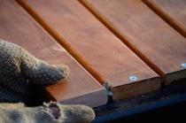 posicionando maderas separadores
